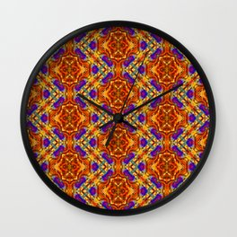 Warm Aztec Zigzag Wall Clock