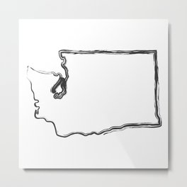 Washington State (The Evergreen State) Metal Print