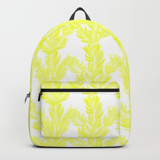 Yellow Succulent Pattern Backpack