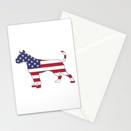 """Boxer """"American Flag"""" Stationery Cards"""