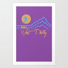 Ski West Philly Art Print