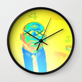 yellow gold Wall Clock