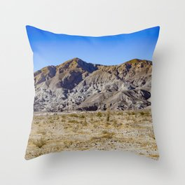Looking Back towards Granite Mountain across the Highway in the Anza Borrego Desert State Park Throw Pillow