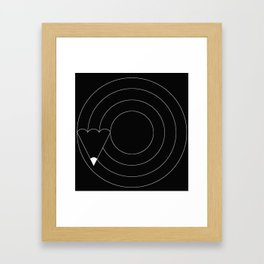 Drawing circles Framed Art Print