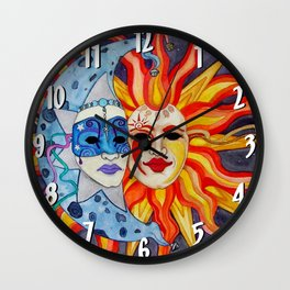 Celestial Comedy and Tragedy Wall Clock