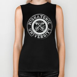 Miskatonic University Emblem (Dark version) Biker Tank