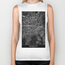 Munich Black Map Biker Tank