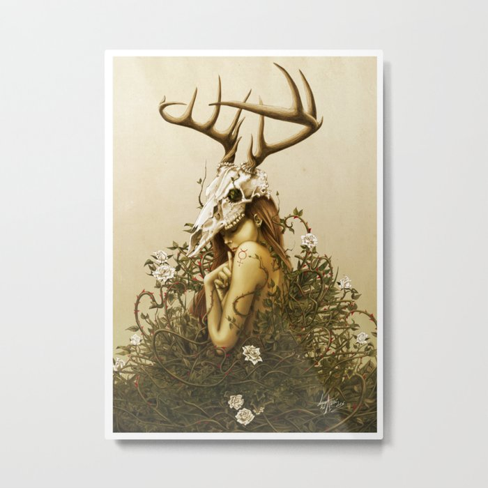 Deer secret. Metal Print