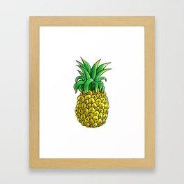 Pining For Summer Tropical Summer Vibes Fruit Framed Art Print