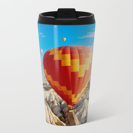 Hot air balloons Metal Travel Mug