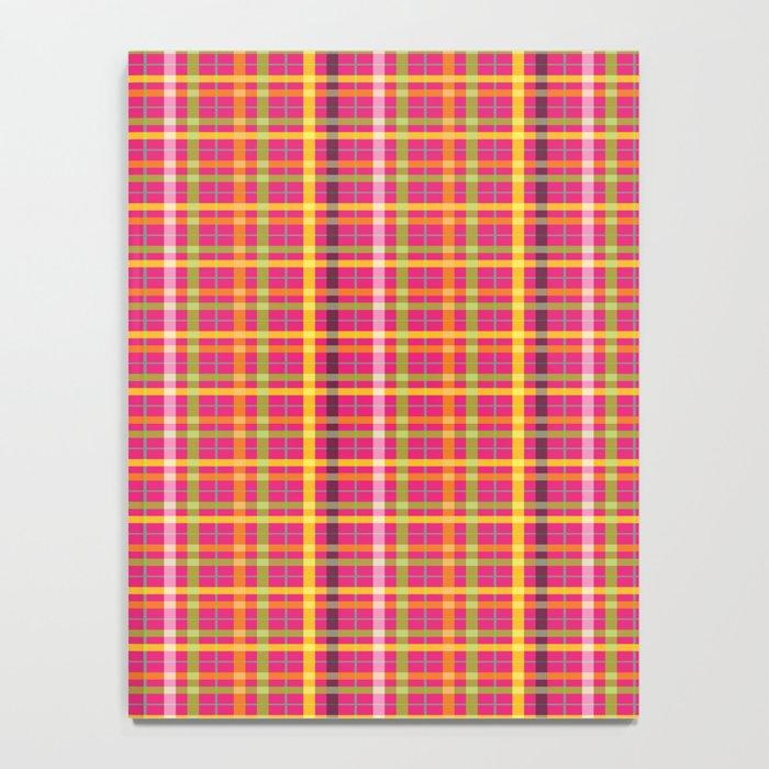 Plaid Pattern   Tartan Pattern   Multi-colored   Pink   Notebook