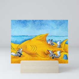 SandShark Building Mini Art Print