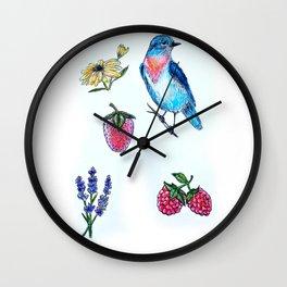 Bluebird Print Wall Clock