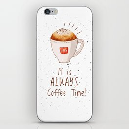watercolor illy coffee iPhone Skin