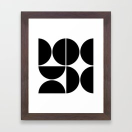 Mid Century Modern Black Square Framed Art Print