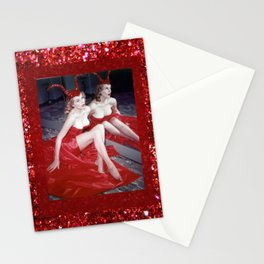 Femme Fatale - Anita Red Devil Glitter Stationery Cards