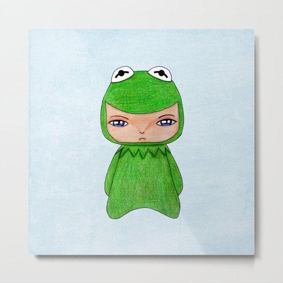 A Boy - Kermit the frog Metal Print
