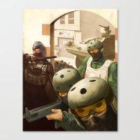 metal gear Canvas Prints featuring Metal Gear by DarkPug