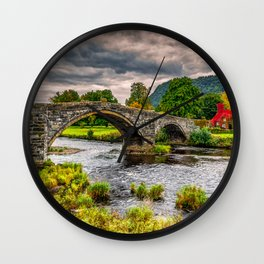 Llanrwst Bridge Autumn Wall Clock
