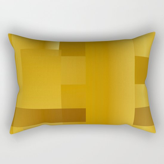 Gold paths Rectangular Pillow