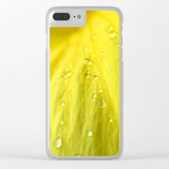 Raindrops on Petals Clear iPhone Case