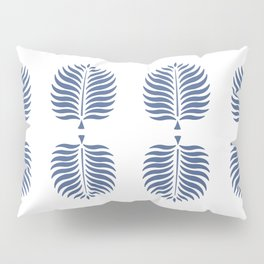 TROPICAL PALMS . WHITE + BLUE Pillow Sham