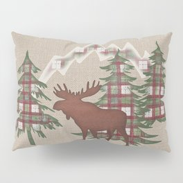 Moose in the Mountains Pillow Sham