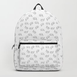 Fat cats - black and white Backpack