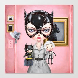 Catwoman - Playtime For Kitty Canvas Print
