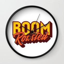 Boom Roasted Wall Clock