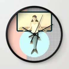 mermaid style Wall Clock