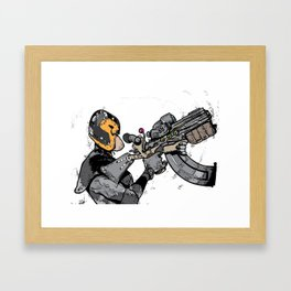 dredd big gun Framed Art Print
