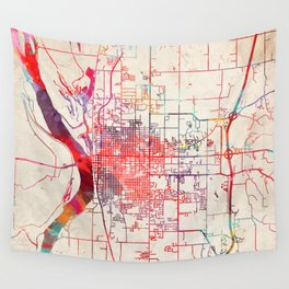 Quincy map Illinois IL Wall Tapestry