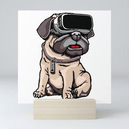 VR Pug Mini Art Print