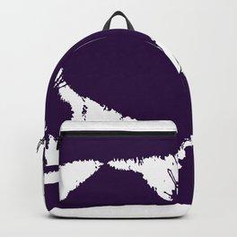 Purple Ink Multi Splatter Heart Design Backpack