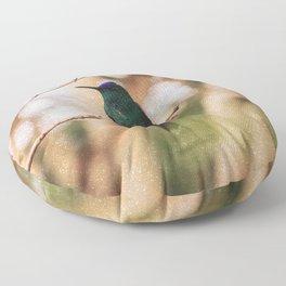 Bird - Photography Paper Effect 005 Floor Pillow