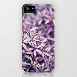 Vintage Purple Poppies  iPhone Case