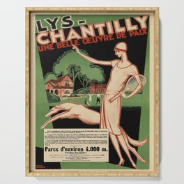 lys - chantilly. circa 1928  Affiche Serving Tray