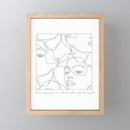 Keep Your Head Up Framed Mini Art Print