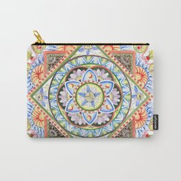 Passion Flower Mandala Carry-All Pouch