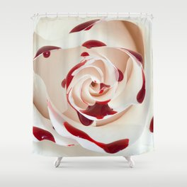 Bleeding Rose Macro Shower Curtain