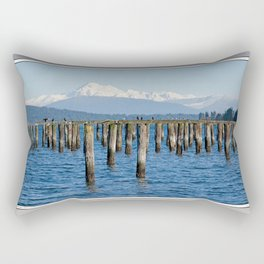 MOUNT BAKER KOMA KULSHAN AND OLD PILINGS  Rectangular Pillow