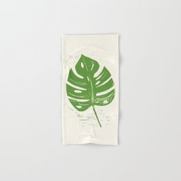 Linocut Leaf Hand & Bath Towel