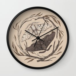 Peppered Moths Wall Clock