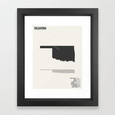 Oklahoma Map Framed Art Print