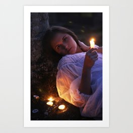 By Candlelight Art Print