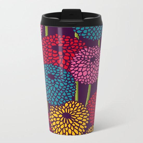 Full of Chrysanth Metal Travel Mug