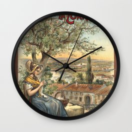 Lorraine 01 - Vintage Poster Wall Clock