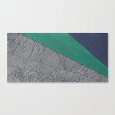 Black, Turquois, Dark Blue Canvas Print