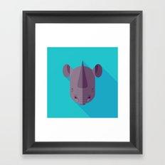 Black Rhino Framed Art Print